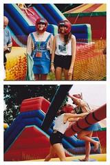 Battle Royale (MatthewFreddura) Tags: summer music game festival fairground inflatable funfair wrestle greenman