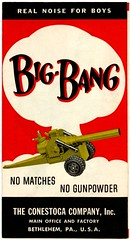 Big-Bang Real Noise for Boys (Alan Mays) Tags: old red white black boys yellow vintage ads advertising children toys typography pennsylvania antique safety ephemera pa type folded safe noise matches bang bethlehem advertisements brochures fonts flyers notices fliers gunpowder cannons factories companies typefaces manufacturers bigbang handbills leaflets alliteration circulars northamptoncounty lehighcounty conestogacompany