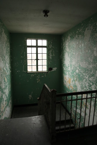 Typical upstate psychiatric center stairwell