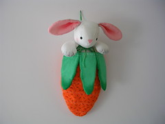 Mr Rabbit ... (Mr. Happy Face - Peace :)) Tags: mrshappyface life hobbies writings crafts artworks sewing orange green rabbit easter carrot bunny pink stuffed happyeaster smileonsaturday purewhite arts