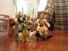 John Cena and Triple H on Dinosaurs