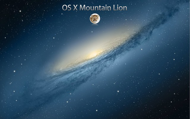 OSX MOUNTAIN LION Wallpaper with logo