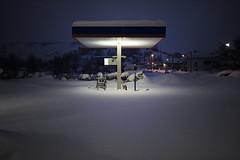 Se sei in Riserva.. Cazzi Tuoi! (sgrazied) Tags: snow sanmarino gasstation neve freddo blizard nevicata romagna isolamento benzinaio montegiardino faetano