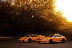 Lamborghini Gallardo Superleggera and Porsche 911 GT3 RS (997) (Desert-Motors Automotive Photography) Tags: arizona cars automobile 911 automotive exotic porsche lamborghini rs supercar gallardo gt3 997 superleggera