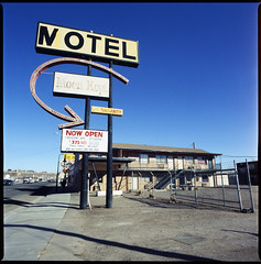 Holbrook, AZ (moominsean) Tags: arizona route66 apartments desert motel bronica 40mm nikkor agfa holbrook rs200 selfdeveloped moenkopi s2a aristarapide6 expired041990