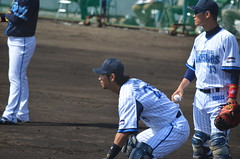 DSC_0815 (mechiko) Tags: 横浜ベイスターズ 120212 新沼慎二 鶴岡一成 横浜denaベイスターズ 2012春季キャンプ