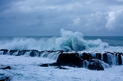 Waves Pound Shark's Cove (ChrisInAK) Tags: hawaii northshore oahu sharkscove beach coast enormous giant gigantic highsurf huge large massive ocean pound rocks sea seascape shore waves