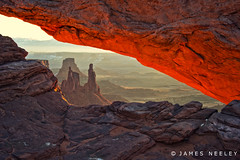 Window To A New Day (James Neeley) Tags: sunrise landscape canyonlandsnationalpark mesaarch jamesneeley flickr24