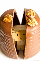 Peek-a-Boo (Fairy_Nuff (new website - piczology.com!)) Tags: easter chocolate egg walnut whip hatchling danbo revoltech msh0313 danboard msh03134