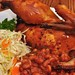 Mmm... BBQ chicken with slaw and baked beans