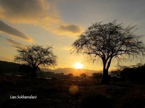 Sunrise in the Kepa island