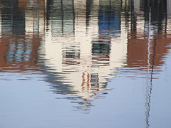 Reflection (cloudspotter761) Tags: house reflection building home water reflections distorted reflected ripples rippled mirrorimage inverted wavy liquid portsolent wavelets distortedimage