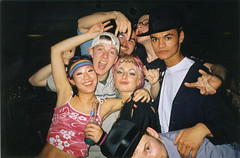 Chirstmas party 2001 (Gary Kinsman) Tags: 2001 party london film me students rock youth drunk pose fun university young christmasparty hampstead hallsofresidence nw3 kingscollegelondon kcl childshill studentcampus kidderporeavenue hampsteadstudentcampus