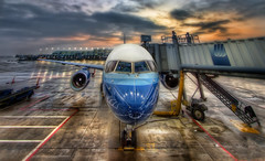 At The Gate (Theaterwiz) Tags: chicago sunrise airplane airport aircraft ohare photomatix handheldhdr canon7d theaterwiz theaterwizphotography michaelcriswell