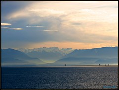 Across The Straits.............Explore (CanMan90) Tags: road winter sunset usa mist canada mountains de dallas washington bc juan state victoria vancouverisland olympic february sailboats neighbours straits pointshoot darklight 2012 fuca thegreatwhitenorth 2countries sx40hs