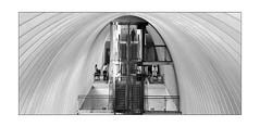 im Bauch des Wales (Karl-Heinz Bitter) Tags: bahnhof calatrava architektur monochrom schwarzweiss liège architectur minimalismus