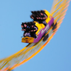 UK - Southend - Rollercoaster 04 sq (Darrell Godliman) Tags: uk greatbritain travel england copyright blur tourism speed fun seaside nikon europe britishisles unitedkingdom britain squares eu fast blurred rage squareformat gb amusementpark rolle