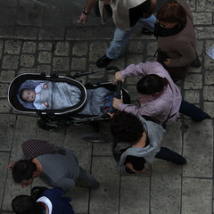 I See You (sonyacita) Tags: people square spain walkers bsquare tudela frommybalcony shotfromabove