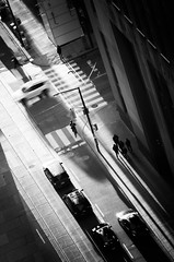 White Car (lynn.h.armstrong) Tags: above camera winter light people bw white signs toronto ontario canada motion black art cars monochrome lines bicycle silver buildings dark walking lens geotagged photography photo interesting mac aperture nikon long flickr cornwall gallery shadows view zoom walk tag south wb images lynn h lamppost getty pro intersection nik below nikkor crosswalk armstrong regional stormont vr licence afs request dx sault attribution crag ingleside 2011 ifed 18200mm f3556 noderivs vrii efex d7000 lynnharmstrong