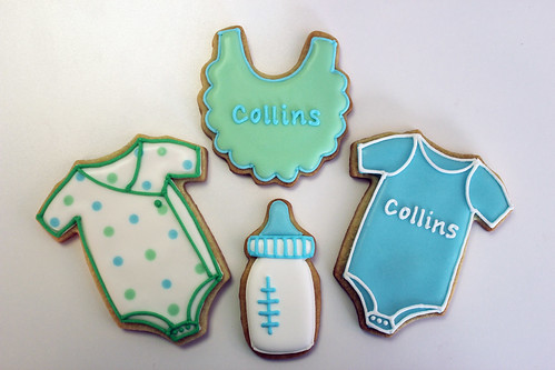 Boy Baby Shower Cookies Blue Green A Photo On Flickriver