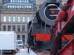 Union of South Africa (divnic) Tags: train scotland glasgow georgesquare locomotive citycentre tender bloemfontein steamtrain steamlocomotive glasgowcitycouncil nbl orangefreestate unionofsouthafrica northbritishlocomotivecompany glasgowmuseumoftransport spoornet southafricanrailways riversidemuseum class15f 482mountainwheel northbritishlocomotivepreservationgroup typeettender