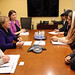 UN Women Executive Director Michelle Bachelet meets with Fiza Batool Gillani, Goodwill Ambassador on Women's Empowerment and Head of the Pakistan Delegation to CSW
