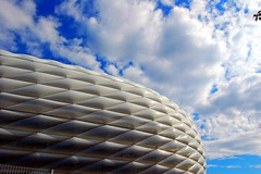 Allianz Arena in Munich, Germany (Tobi_2008) Tags: building architecture germany bayern deutschland bavaria stadium stadion bauwerk allemagne germania allianzarena diamondclassphotographer flickrdiamond architekturmnchen mygearandme