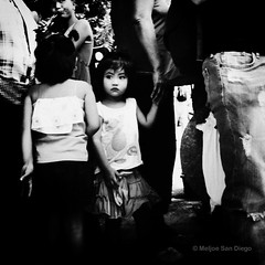 Curious Eyes (Meljoe San Diego) Tags: street bw candid philippines streetphotography littlegirl ricoh pangasinan meljoesandiego grdiv