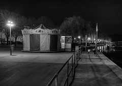 436 - When the night comes... (mlNYs) Tags: blackandwhite bw white black night river lights nikon fx luxembourg quai hdr manfrotto blackdiamond manege moselle remich 50mmf14g nikoniste d700 360project nikkor50mmf14g mlnys 16mar2012