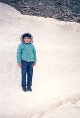 Ameer Hamza (Year 1989) (Ameer Hamza) Tags: blue pakistan snow cold weather standing jacket fototrove ameerhamzacollection hanifadhiacollection