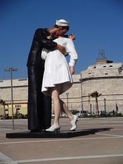 DSCF2807 (David Denny2008) Tags: italy med cruise march 2012 blonde sailor nurse kiss civitavecchia alfred eisenstaedt photograph vjday edith shain msc mv melody jsewardjohnson unconditionalsurrender baciodelmare