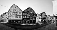 Nagold city panorama (Michad90) Tags: street old city houses bw panorama white black buildings germany nikon apotheke d90 nagold