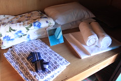 Cool summer blanket, fresh linen, yukata and towels are provided