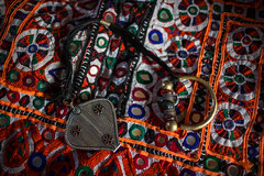 cloth hand-embroidered of the deserts of kutch and earring the nose Jat tribe (anthony pappone photography) Tags: travel india colors silver colours handmade muslim earring piercing ring rings tribes asie nosering textiles cloth ethnic indi indien indi yat islamic gujarat inde ethnology azi indland noserings kutch bhuj  jat etnic greatrannofkutch indija  etnia handembroidered ethnie dhanetajat handmadefabrics   handcraftedtextiles jattpeople jatttribe earringnose earringjatjat jattribe desertkutch kutchtribes anthropologye