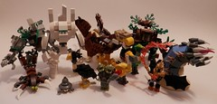Monster Mash! (jgg3210) Tags: wild tree castle ice monster stone fauna giant lego earth scorpion fantasy creature guildwars imp golem griffon elemental moc devourer wurm whiptail ettin mudcrab galacia brickbuilt classiccastle lashtail moabird willowstone