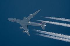 Cargolux Boeing 747-8R7(F) LX-VCI (Thames Air) Tags: cargolux boeing 7478r7f lxvci contrails telescope dobsonian overhead vapour trail