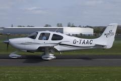 130414 - Cirrus SR20 - G-TAAC (gbadger1) Tags: april cirrus airfield 2014 wellesbourne sr20 mountford egbw gtaac wellesbournemountfordairfield