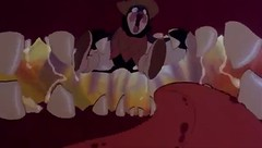 """""""Buzz off, Buster!"""" 26 (qwertyuiop767) Tags: roof red tongue closeup mouth out movie buzz fly open close pov near teeth awesome cartoon maw canine lick off gums lips fox inside buster animated fangs grab devour flick hold thumbelina flexible vore flung gullet nom canid amscray mouthplay nearvore"""