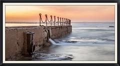 Ocean Pool at Sunrise (**James Lee**) Tags: ocean longexposure seascape beach nature newcastle australia chain drain milky newcastlebeach oceanpool