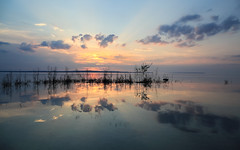 Good Bye Weekend (Note-ables by Lynn) Tags: nature clouds landscapes skies georgianbay shoreline sunsets bluehour sunsetssunrises
