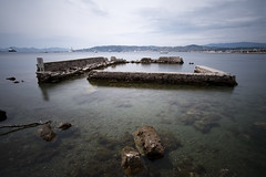 Ruins (fredMin) Tags: travel sea france long exposure mediterranean fuji cap fujifilm cote dazur dantibes samyang xt1