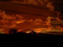 Recuerdos. (mynikonismyfourtheye) Tags: city shadow two orange black window birds yellow clouds reflections dawn nikon flickr cityscape horizon ghost memories flats persiana nostalgia coolpix belle antenna picoftheday aesthetic melancholia l820 persiona nikonpjotography