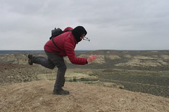 Unbalanced in the wind, that's me! (rozoneill) Tags: rome oregon river desert hiking vale pillars eastern blm uplands owyhee