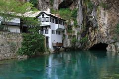 Blagaj Tekke (Wild Chroma) Tags: house water bosnia monastery herzegovina cave tekke dervish blagaj tejika