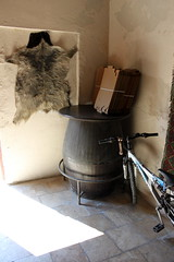 turkish still life in shade (kexi) Tags: stilllife sun bicycle vertical composition canon turkey fur interior barrel may shade pamukkale 2015 instantfave