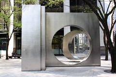 RMS Queen Elizabeth Monument ? (ktmqi) Tags: newyorkcity monument memorial stainlesssteel downtown abstractart steel wallstreet publicsculpture qei rmsqueenelizabeth eastwestgate yuyuwang