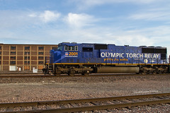 Olympic Unit at WR (tim_1522) Tags: 2001 railroad up illinois sub rail il unionpacific springfield subdivision emd olympictorchrelay railfanning sd70m wrtower