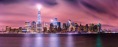 Brilliant Manhattan (^Baobab^) Tags: city nyc newyorkcity travel panorama water skyline architecture zeiss newjersey cityscape manhattan newyorkstate libertystatepark nycnight oneworldtradecenter newworldtrade sonnartfe1855 sonya7r2