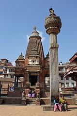 80. King Yogendra Malla's Piller, Khrishna Temple, Durbar Square, Patan City, Kathmandu Valley, Nepal (Jay Ramji's Travels) Tags: nepal temple kathmandu patan mandir kathmanduvalley durbarsquare piller patancity kingyogendramalla