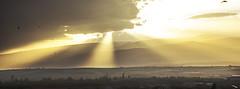 Sky background on sunrise (sevakaramyan) Tags: morning blue light sunset summer sky orange cloud mist nature misty sunrise landscape heaven paradise peace outdoor background air atmosphere calm tropical rays meteorology